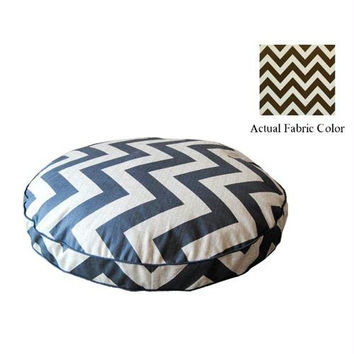 Medium Dog Bed - Brown And White Chevron
