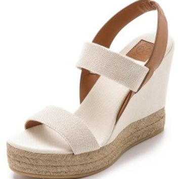 Two Band Wedge Slingback