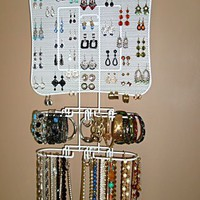 Mini Jewelry Organizer in White by Longstem - Amazing storage idea for smaller collections!
