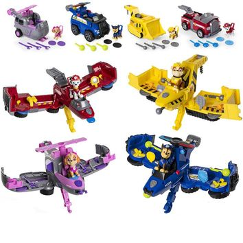 Paw Patrol dog Vehicle toys Can Have Fun With This 2-in-1 Vehicle Transforming From Bulldozer to a Jet Kids