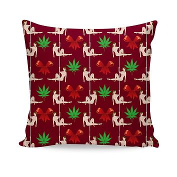 Christmas Stripper Couch Pillow