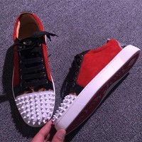 Cl Christian Louboutin Low Style #2064 Sneakers Fashion Shoes