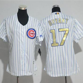 Women's Chicago Cubs #17 Kris Bryant Majestic Cool Base Player Jersey