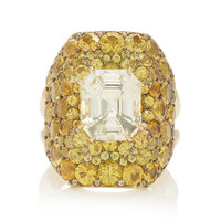 One-Of-A-Kind Pale And Intense Yellow Sapphire Ring | Moda Operandi