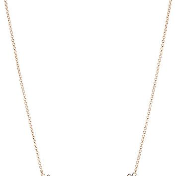 TIFFANY & CO - Tiffany T smile pendant in 18k rose-gold, mini | Selfridges.com