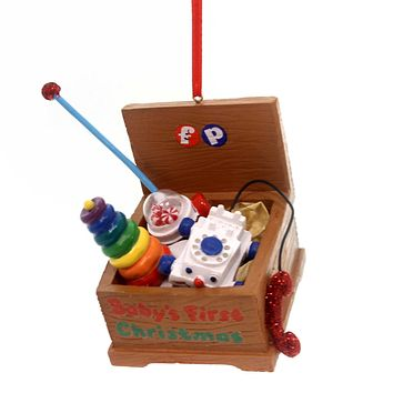 Holiday Ornaments Fisher Toy Chest Personal Resin Ornament