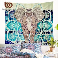 BeddingOutlet Indian Style Tapestry Elephant Printed Wall Hanging Carpet Rectangle Decorative Tapestries Sheet Polyester 2 Sizes