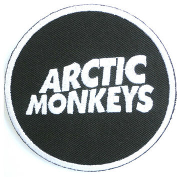 Arctic Monkeys Embroidered Iron On Badge Patch 2.9""