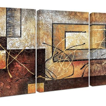 Abstract Canvas Wall Art Paintings on Canvas Contemporary Art with Wooden Frame