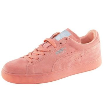 Puma Suede Mono Iced Rose Sneakers Femme Baskets Mode Pink Monochrom 362101-08
