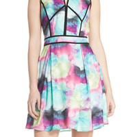 Print Woven Fit & Flare Dress