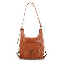 Nottingham Hobo Bag With Front Pocket - Cognac