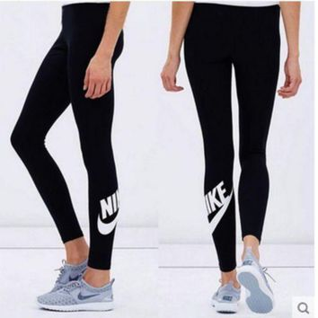 ESBON Nike Fashion Print Exercise Fitness Gym Yoga Running Sportswear Legging