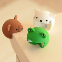 4PCS Corner Bumpers New Cartoon Furniture Corner Soft  Silica Gel Baby Safety Bumper Thicken Protector Cat/ Frog/ Bear Style