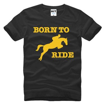 Born To Ride Horse Riding Creative Novelty Printed Men's T-Shirt