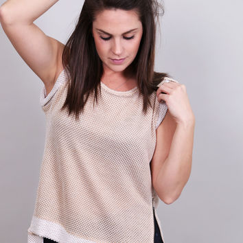 Muscle Tank Sweater {Oatmeal}