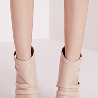 Missguided - Geometric Cut Out Pumps Nude