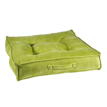 MicroVelvet Square Piazza Dog Bed — Key Lime