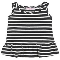 MINI Stripe Frill Hem Vest - Navy Blue