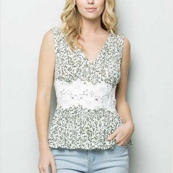 See and Be Seen Floral Lace Top