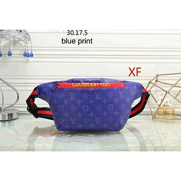 GUCCI women fashionable and elegant Fanny pack single shoulder bag F-LLBPFSH blue print