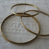 Brass Bangle Stacking Bracelets