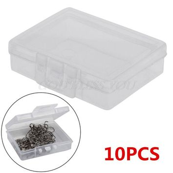 Free Shipping 10PCS Transparent Fishing Lure Tackle Hook Bait Plastic Storage Box Container Case Drop Ship