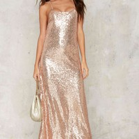 Glamorous Liv Sequin Maxi Dress