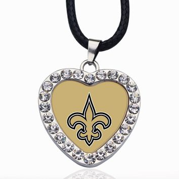 Wimpy kid New Orleans Saint Patriots Pendant Necklace Best Gift for /Women/Girl/Men/Mom Zinc Alloy Ball Chain Necklace
