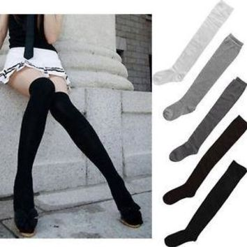 Fashion Women Ladies Thigh High OVER the KNEE Sock Long Cotton Stockings New l-t