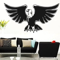 Wall Vinyl Sticker Decal Eagle Lifting His Wings Nursery Room Nice Picture Decor Mural Hall Wall Ki732