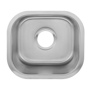 DAX-1214 / DAX SINGLE BOWL UNDERMOUNT KITCHEN SINK, 18 GAUGE STAINLESS STEEL, BRUSHED FINISH
