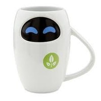 Disney Store Walle Eve Eva Ceramic Mug Cup