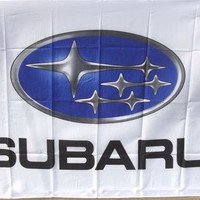 Subaru Racing Premium Polyester Flag Banner Sign