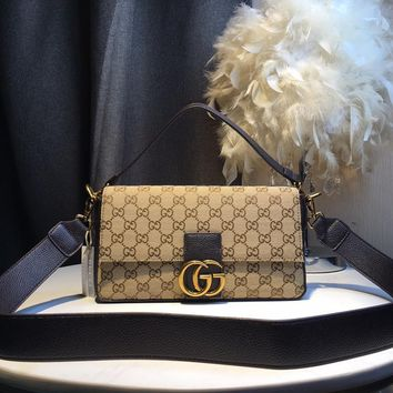 Kuyou Gb59717 Gucci Gg Canvas Pouches Small Shoulder Bag 28*13