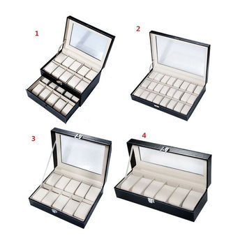 Fashion Multi Slots Watch Jewelry Display Case Box Storage PU Leather = 1705651268