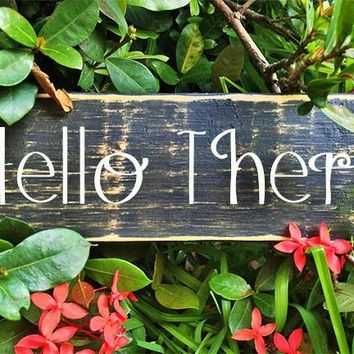 12x4 Hello There Wood Sign