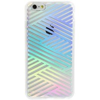 Sonix Clear Coat Apple iPhone 6/6s Clear Criss Cross Rainbow