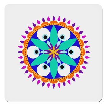 """Evil Eye Protection Mandala 4x4"""" Square Sticker by TooLoud"""