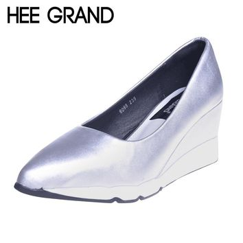 HEE GRAND Women's Pointed-Toe Wedge Hill Pumps/Shoes