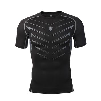 Mens Sport Compression Shirts Bodybuilding  MMA Crossfit Exercise Workout Fitness Jerseys Clothings Sportswear FN13