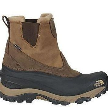 The North Face Mens Chilkat II Pull-On Boots Demitasse Brown Waterproof