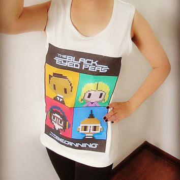 Black Eyed Peas Shirt Crop Top Tank Tops T-Shirt , Women Sexy Hipster Shirt , Custom Photo T-Shirt