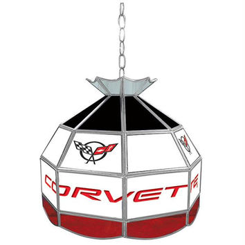 Corvette C5 Stained Glass Tiffany Lamp - 16 inch diameter