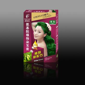 Green Brown Red Purple Hair Styling Unisex Permanent Hair Dye Coloring