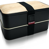 Premium Bento Box Lunch Box by GRUB2GO + FREE BENTO IDEAS GUIDE + FREE Utensils - Premium Lunch Boxes for Adults and Kids