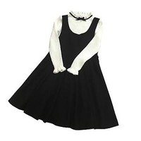 Harajuku Girl's Black Sleeves Dress Lolita  Lovely Casual Loose Style Punk