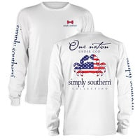 Simply Southern One Nation USA Crab Long Sleeve T-Shirt
