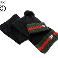 Gucci knitted hat & Scarf 008#