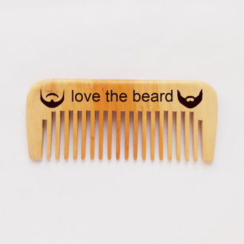 wood comb, wooden beard comb, engraved comb, Custom Beard Comb, pocket comb, wood burning, Dad Gift, fathers day gift, for him, man gift